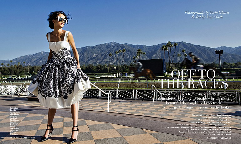 Deltagram for GENLUX Magazine, Summer 2014: Off to the Races