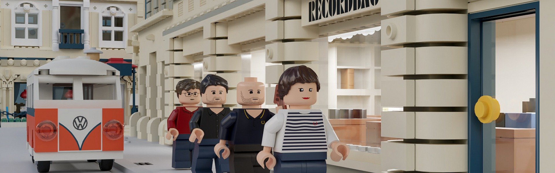 3D-Animation in Lego Look: Deltagram for Wohnzimmer Records